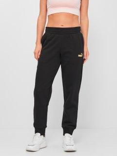 Спортивные штаны Puma ESS+ Metallic Pants FL cl 84613901 L Black-Gold (4063699382020)