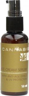 Крем-сыворотка Cannabis Face Cream Serum anti-age effect & UV protection с антивозрастным эффектом и защитой от ультрафиолета с экстрактом каннабиса 50 мл (4820218000441)