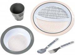 Набор посуды Beaba из меламина Розовый (913460) (3384349134600)