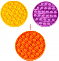 Набор Sibelly Pop It Круг Mono Orange + Violet + Yellow (SB-PPIT-CRCL-OR-VLT-YL) (9869205469224)
