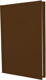 Ежедневник датированный Economix 2022 352 страницы Satin коричневый А5 (E21612-07)