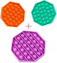 Набор Sibelly Восьмиугольник Pop It Mono Mint + Orange + Violet (SB-PPIT-MNT-OR-VLT) (9869205469224)