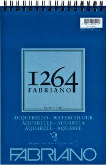 Альбомдля акварелиFabriano 1264А4 300г/м2на спирали30 листов (8001348212157)