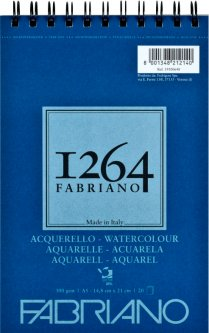 Альбомдля акварелиFabriano 1264А5 300г/м2на спирали20 листов (8001348212140)