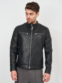 Куртка из искусственной кожи Zara 8281/411/800 M Черная (08281411800034)