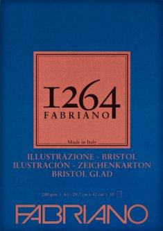 Склейка для рисунковFabriano 1264Bristol А3 200г/м2 50 листов (8001348212218)