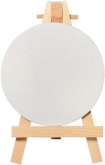 Холст круглый Santi на подрамнике с декоративным мольбертом 9 см (742553)
