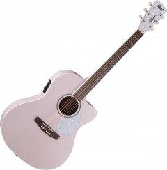 Гитара электроакустическая Cort Jade Classic Pastel Pink Open Pore (JADE Classic PPOP w/bag)