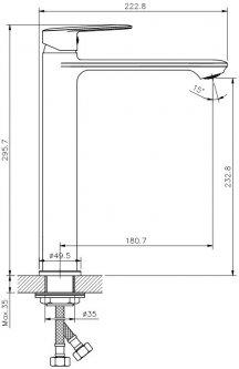 Смеситель для раковины KOLLER POOL Line LN0200XL
