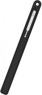 Текстурированный силиконовый чехол AhaStyle для Apple Pencil 2 Чёрный (AHA-01800-BLK)