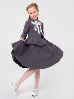 Платье Smil 120260 ШФ 122 см Серое (4824039229425)