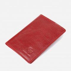Обложка для паспорта кожаная Grande Pelle leather-11480 Красная