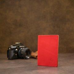 Обложка для паспорта кожаная Grande Pelle leather-11484 Красная