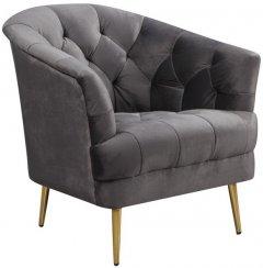 Кресло Vetro Mebel Лучия Серое (Lucia-gr-vlv-armchr)