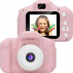 Цифровой детский фотоаппарат GM14 Розовый Компактный + USB кабель (1128016673AV)