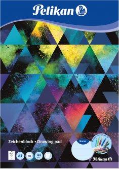 Альбом для рисования Pelikan A3 20 листов 120 г Colorsplash (236799C)