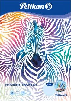 Альбом для рисования Pelikan A3 20 листов 120 г Zebra (236799Z)