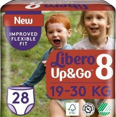 Подгузники-трусики детские Libero Up&Go 8 19-30 кг 28 шт (7322541091662)
