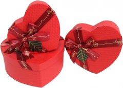 Набор подарочных коробок Ufo Red Heart картонных 3 шт Красных (51351-051 Набор 3 шт RED HEART с)