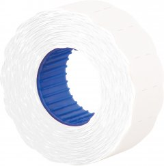 Этикет-лента Economix 22 x 12 мм 1000 шт/уп 10 рул. Белая (E21303-14)