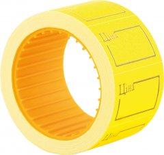 Этикет-лента Economix 30 x 20 мм 200 шт/уп 10 рул. Желтая (E21306-05)