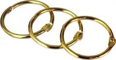 Кольцо металлическое для переплета bindMARK 25.4 мм золото 100 шт (2000032013014)