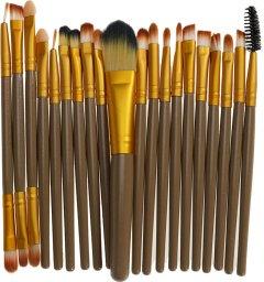 Набор кистей для макияжа Supretto 20 шт Коричневый (2000100049280)
