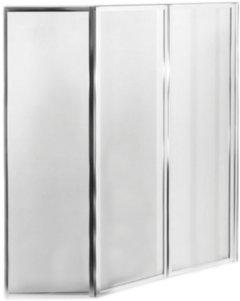 Шторка для ванны BESCO PMD ambition premium 3S 130х140 хром