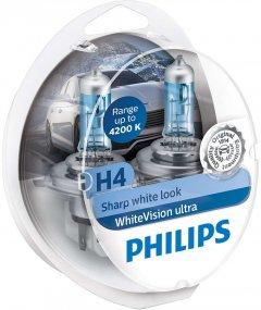 Автолампы Philips WhiteVision Ultra +60% H4 (12342WVUSM)