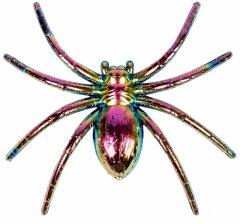 Набор пластиковых пауков Yes! Fun Хэллоуин металлизированных 6х6.5 см 6 шт (973681)
