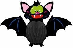 Подвеска-соты бумажная 3D Yes! Fun Хэллоуин Летучая мышь 53 см (973633)