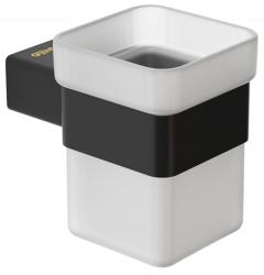 Стакан для ванной GENWEC Pompei GW05 56 04 03 черный матовый