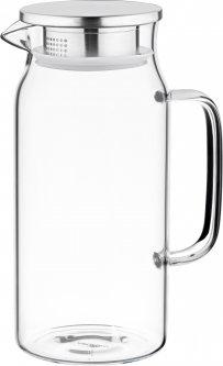 Кувшин с крышкой Ardesto Боросиликатное стекло + нержавеющая сталь 1200 мл (AR2612PG)