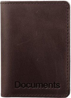 Мужская обложка для документов кожаная DNK Leather DNK-minidoc-fileH-colF Темно-коричневая (2900000094581)