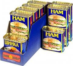 Упаковка ветчины PowerBANKa свинина рубленая 340 г х 14 шт (38506826)