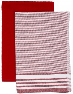 Набор полотенец Maisonette Flat 40х60 см 2 шт Красный (8699965113133)
