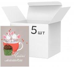 Упаковка блокнотов 4Profi Profiplan Любовь объединяет A5 без линовки 40 листов Two 5 шт (902255)