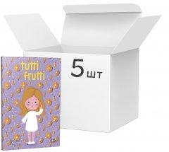 Упаковка блокнотов 4Profi Profiplan Artbook Rainbow Tutti Frutti A6 без линовки 48 листов Orange 5 шт (901326)