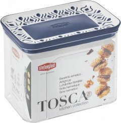 Емкость для хранения сыпучих продуктов Stefanplast Tosca 1.2 л Бело-голубая (55601)
