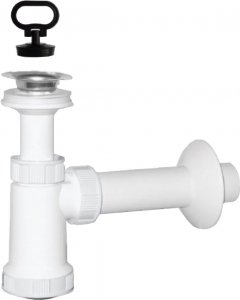 Сифон для раковины PLAST BRNO колбовый 32/32 мм c пробкой (EU0N332)