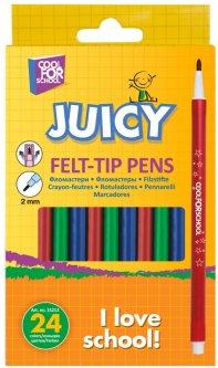 Фломастеры круглые Cool For School Juicy 24 цвета (CF15213)