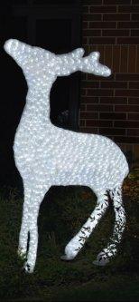 Новогодняя светодиодная декорация Scorpio Олень 83х60 см Белая (560351) (4820005603510)