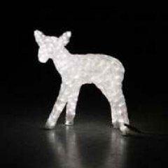Новогодняя светодиодная декорация Scorpio Олень 50х47 см Белая (560329) (4820005603299)