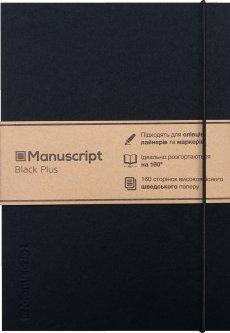 Скетчбук Manuscript Black Plus A5 Чистые 160 страниц с открытым переплетом (M - Black+)