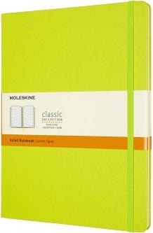 Записная книга Moleskine Classic 19 x 25 см 192 страницы в линейку Лимонная (8056420850895)