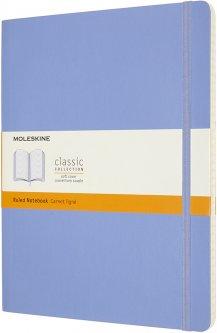 Записная книга Moleskine Classic 19 x 25 см 192 страницы в линейку Голубая мягкая обложка (8056420850956)