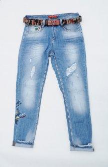 Джинси жіночі WOOX Boyfriend W30 L29 Синій Арт 5063