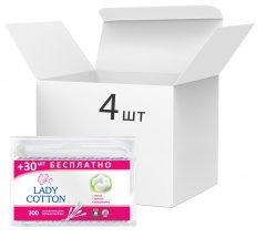 Упаковка ватных палочек Lady Cotton 4 пачки по 300 шт (4823071621402) (41203427)