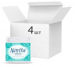 Упаковка ватных палочек Novita Delicate 4 пачки по 200 шт (4823071615913) (41202445)