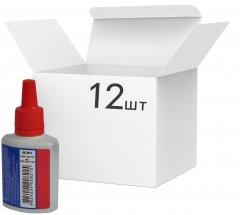 Упаковка штемпельной краски Buromax на водной основе Красная 30 мл х 12 шт (BM.1901-03)